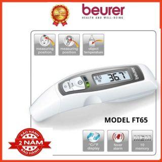 Nhiệt kế điện tử hồng ngoại Beurer FT65, đo nhiệt độ cơ thể, nhiệt độ bề mặt, thời gian đo nhanh trong vài giây,cảnh báo sốt, màn hình LCD sáng dịu, lưu 10 kết quả đo. Bảo hành chính hãng 24 tháng thumbnail