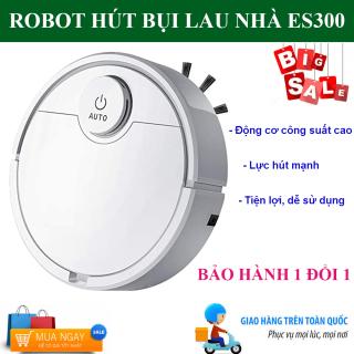 Robot Hút Bụi Tự Động Thông Minh ES300, Robot Hút Bụi Lau Nhà , Robot Tự Động Lau Nhà ES300. Tự Động Phát Hiện Khi Gặp Các Vật Cản , Dễ Dàng Làm Sạch Các Vị Trí Khó Như Gầm Giường, Tủ, Ghế Sofa, Giá Cực Sốc, Hãy Mua Ngay thumbnail