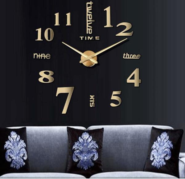 Đồng hồ dán tường 3D cỡ lớn từ 90cm đến 120cm - Đồng hồ dán tường trang trí 3D khổ lớn - Đồng hồ treo tường trang trí-  - DH072 bán chạy