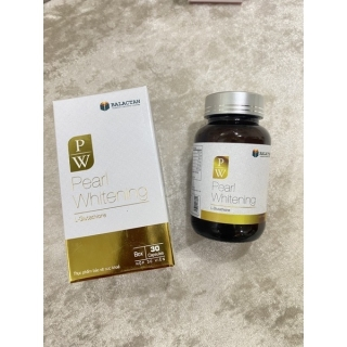 Viên Uống Trắng Da Toàn Thân Pearl Whitening- Với thành phần L-Glutathion,L-cystine Giúp trắng da, mờ nám, tàn nhang- hộp 30 viên thumbnail
