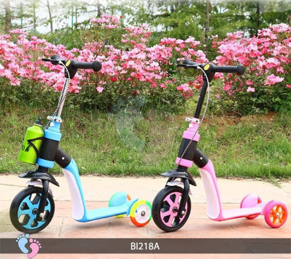 Phân phối Xe Trượt Scooter 2 in 1 - (Trượt Scooter-Xe Chòi Chân- Xe Đạp Nadle) - dòng xe hiện đại với thiết kế cực kì thông minh, được tích hợp trong 1 sản phẩm rất tiện dụng, đưa lại cho bé bảo hành 12 tháng