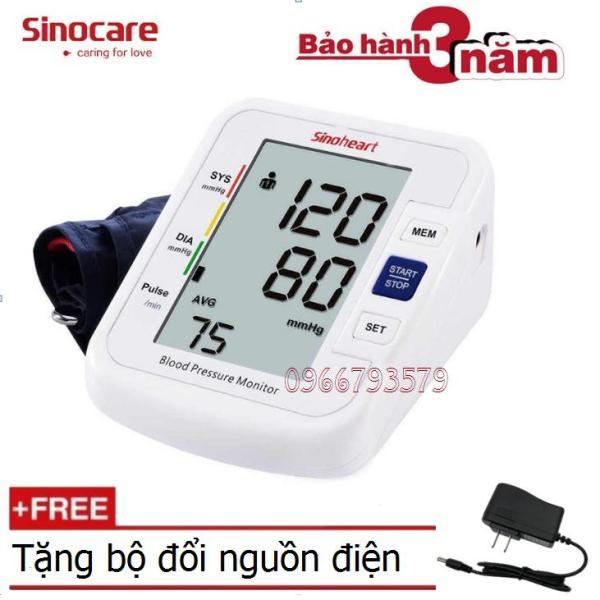 Máy đo huyết áp bắp tay Sinoheart BA-801+ Tặng bộ đổi nguồn