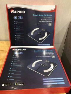 các loại cân điện tử tốt,cân sức khỏe chất lượng cao giá tốt đáng mua,cân - Có Bluetooth Phiên Bản 2021 - Cân sức khỏe và phân tích các chỉ số cơ thể Rapido RSF02-S thumbnail