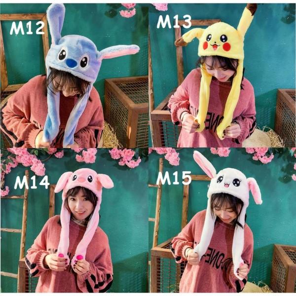 Mũ tai thỏ giật - Nón tai thỏ giật phong cách Hàn Quốc