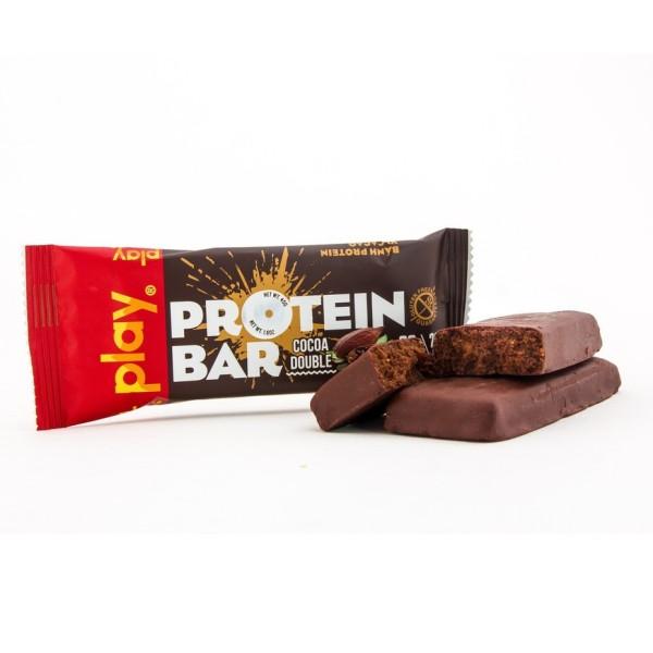 Thanh Protein Bar [FREESHIP] Thanh Năng Lượng Play Protein Bar - Bánh Protein Vị Cacao 45Gr SP4
