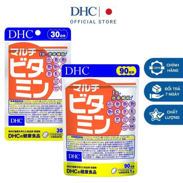 DHC Viên uống Multi Vitamin Nhật Bản bổ sung 12 loại vitamin tăng sức đề kháng 30 ngày và 90 ngày nhập khẩu