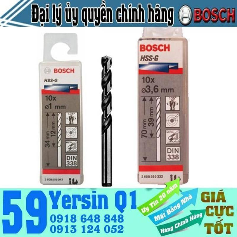 Bộ mũi khoan sắt 10 mũi HSS-G Bocsh 1mm - 7.5mm
