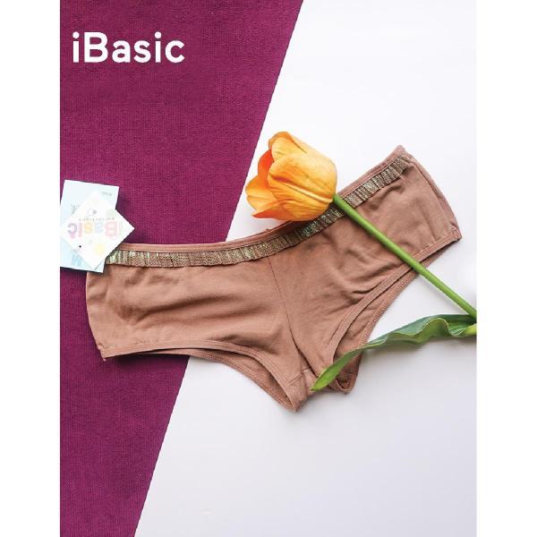 Quần lót nữ thun cotton lưng thấp thoáng mát thấm hút tốt iBasic 3241