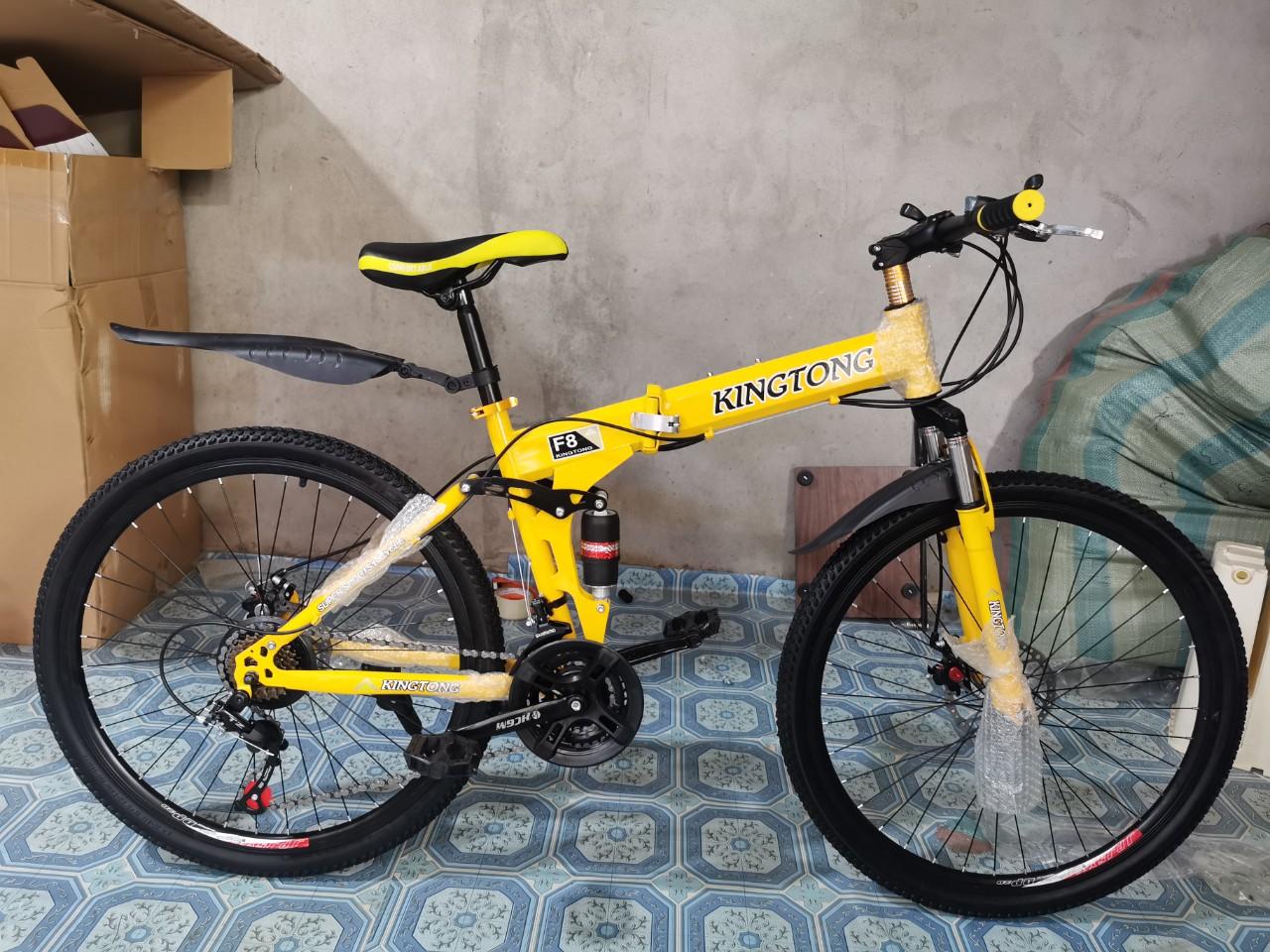 Mua Xe đạp gấp thể thao địa hình HaHoo - Bánh căm (màu vàng, đen, cam)