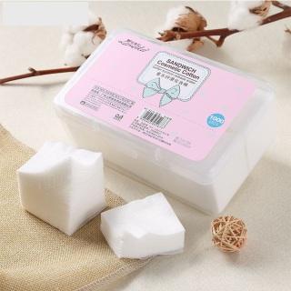 [Siêu tiết kiệm] Hộp 1000 bông tẩy trang Lameila miniso chất liệu 100% cotton mềm mại và mịn màng , cotton pad , bông trang điểm make up tẩy trang , miếng bông làm sạch da thumbnail
