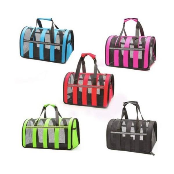 Túi vận chuyển chó mèo cao cấp , khung lưới thoáng , nhiều màu sắc ! Size M