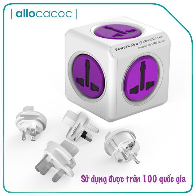 Ổ Cắm Điện Du Lịch Đa Năng Allocacoc PowerCube ReWirable USB Universal