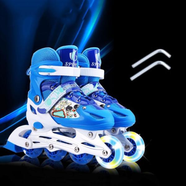 Mua giày patin trẻ em [ TẶNG BỘ ĐỆM BẢO VỆ ] - giày trượt patin cho bé từ 3 -15 tuổi, bánh xe phát sáng, kích thước giày có thể điều chỉnh linh hoạt