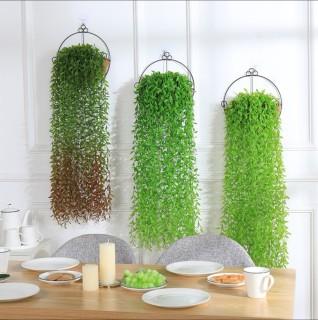 Chùm lá liễu giả 5 dây xanh mát trang trí nhà cửa, nhà hàng, quán cà phê đẹp - dây lá giả nhựa PVC decor, làm phụ kiện chụp ảnh (sợi dài 105cm) thumbnail
