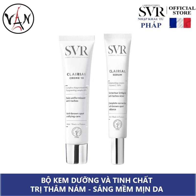 Bộ đôi kem dưỡng giảm thâm nám SVR Clarial và Tinh chất ngăn sạm da, sáng mềm mịn da 30ml nhập khẩu