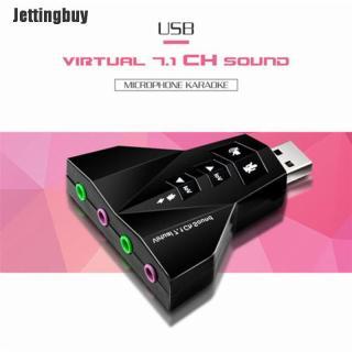 Bộ Chuyển Đổi Thẻ Âm Thanh Ảo Jettingbuy USB 2.0 3D Bộ Điều Hợp Âm Thanh 7.1 Kênh Bền thumbnail