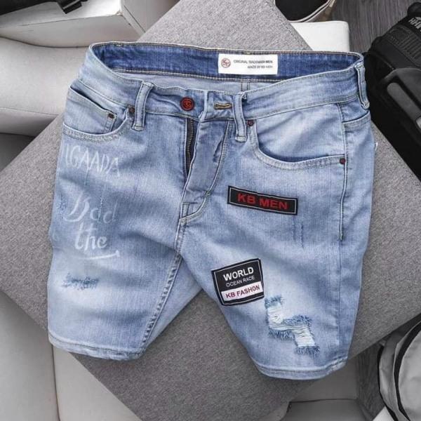 quần short jean nam cao cấp vảy sơn ,chất liệu jean ,co giãn tốt HOANGKIMFASHION DA1