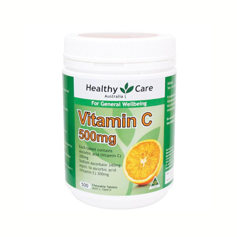 Vitamin C 500mg Healthy Care, 500 viên cao cấp