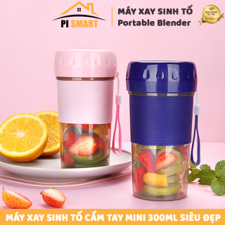 Máy Say Sinh Tố Cầm Tay Mini Portable Juicer 300 ml Xay Hoa Quả Tiện lợi nhỏ gọn mang đi mọi nơi Có thể dùng như bình nước bình thường SIÊU HOT thumbnail