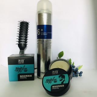 Combo Gôm Xịt Tóc Spray 6+ Sáp Vuốt Tóc SHENG KOU thumbnail