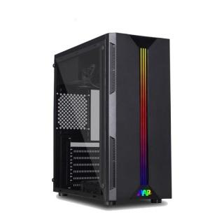 Case Máy tính Aap P06 Có Led RGB mặt hông Kính cường lực cực đẹp hàng cao cấp, Vỏ Thùng máy tính mẫu mới bán chạy thumbnail