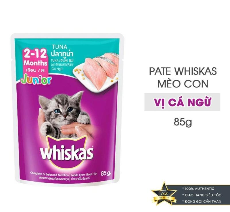 Thức ăn cho mèo Whiskas pate vị cá ngừ 85g