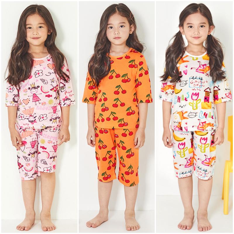 Nơi bán Bộ đồ lửng quần áo ngủ bé gái Unifriend Hàn Quốc U003 hình hoạt hình cho bé 1-10 tuổi