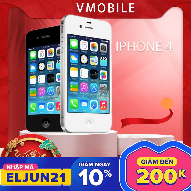 Điện thoại iPhone 4 Quốc tế lắp sim dùng luôn Bảo hành 3 tháng 1 đổi 1 tại nhà trong
