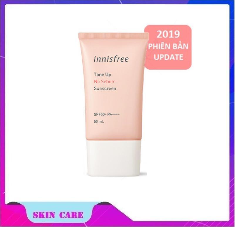 Kem Chống Nắng Kiềm Dầu và Nâng Tông Da Innisfree Tone Up No Sebum Sunscreen SPF50 PA+++ (50ml) nhập khẩu
