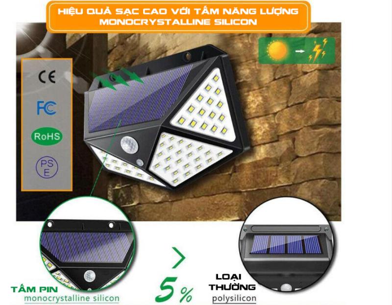 Đèn năng lượng mặt trời 100 LED - 3 chế độ sáng