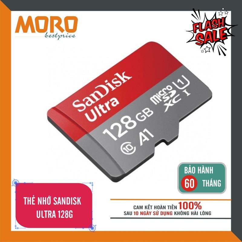 Thẻ Nhớ MicroSDHC SanDisk Ultra 128GB - Nhập khẩu - bảo hành 5 năm