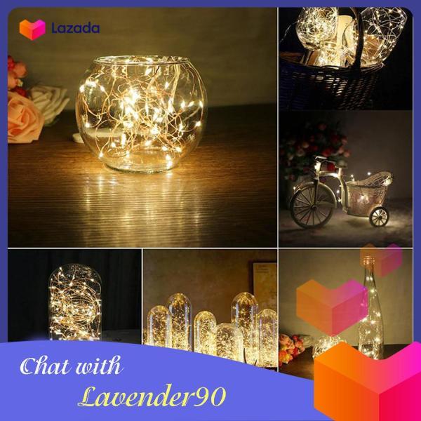 Dây đèn led trang trí ánh sáng vàng ấm, trang nhã độ dài 2 m dùng pin tiểu độ bền cao, phù hợp với chụp ảnh trong phòng, ảnh bán hàng