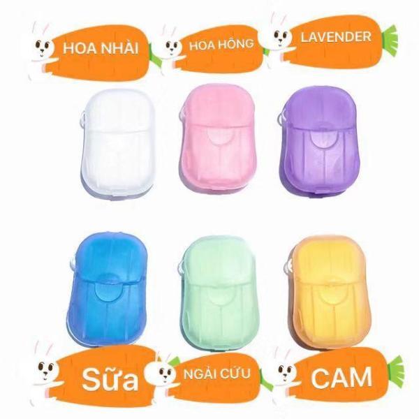 HY COMBO 2 HỘP SOAP Xà phòng, Xà bông miếng, Đủ hương , thuận tiện đem theo bên mình ,hộp 20 miếng(4x6cm) rửa tay tiện dụng giá rẻ
