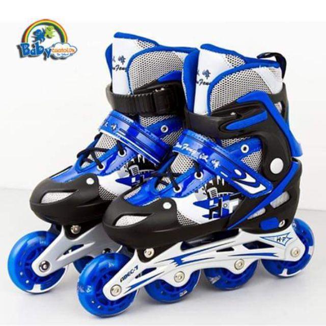 Mua Giầy trượt patin Chất liệu giày da mềm  bóng đẹp  khung xương bánh xe làm bằng nhôm hợp kim chắc chắn nhẹ bềnva đập tốt