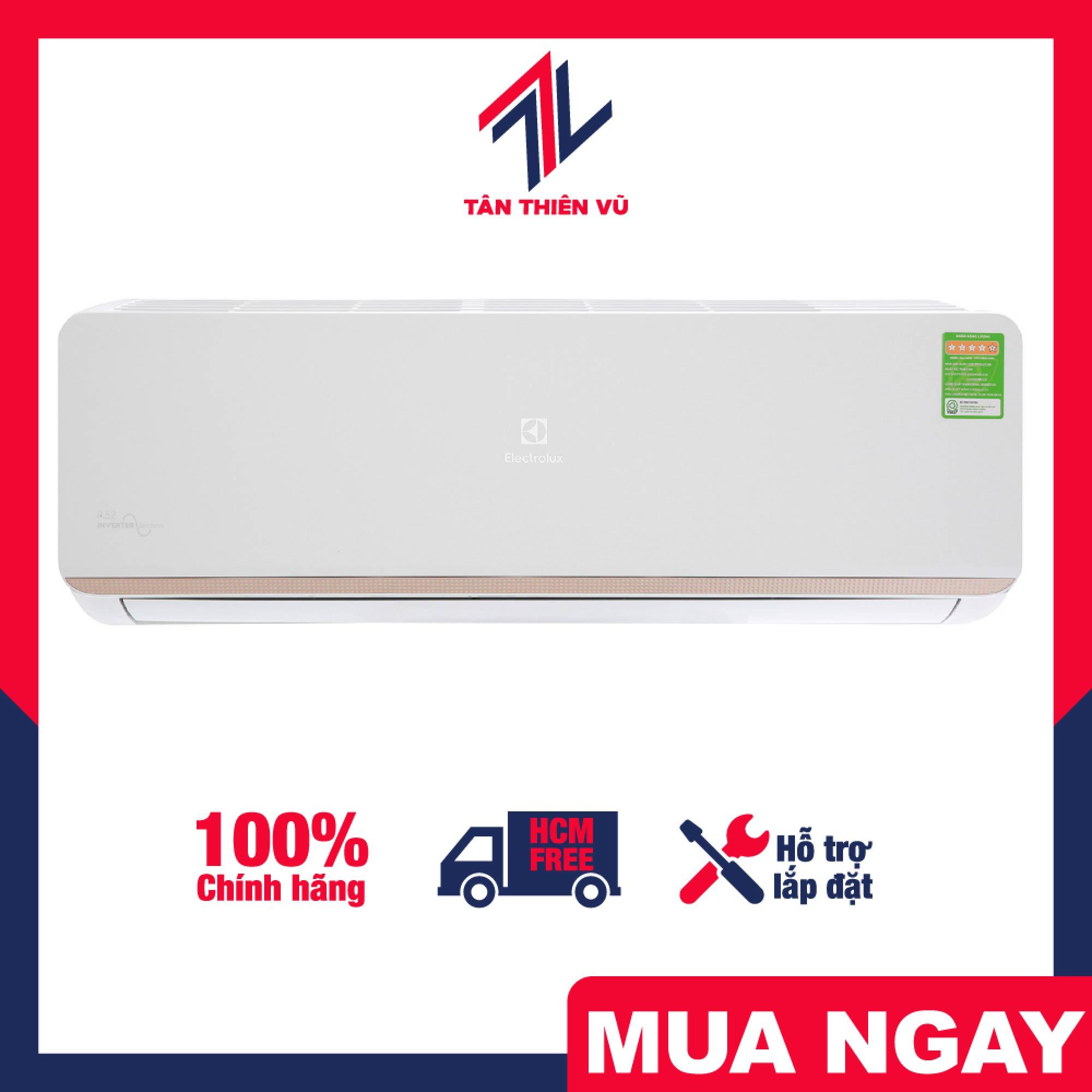 Trả góp 0% - Máy lạnh Electrolux Inverter 1 HP ESV09CRR-C6, sở hữu thiết kế hiện đại nhưng không kém phần tinh tế cùng với màn hình hiện thị nhiệt độ trên dàn lạnh - Miễn phí vận chuyển HCM