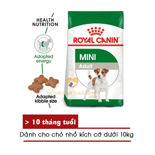 Thức ăn hạt cho chó Royal Canin MINI ADULT (800gr, 2kg, 8kg) - [Nông Trại Thú Cưng]
