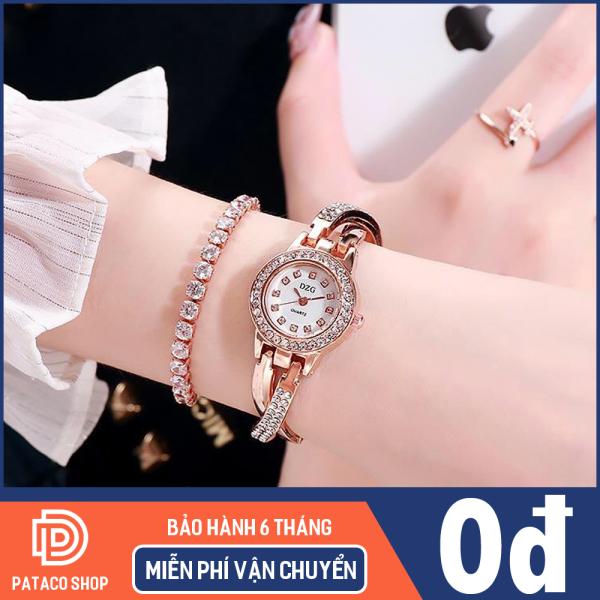Đồng hồ nữ thời trang DZG D126 dây chéo mặt đính đá cực đẹp ,Bảo hành 6 tháng
