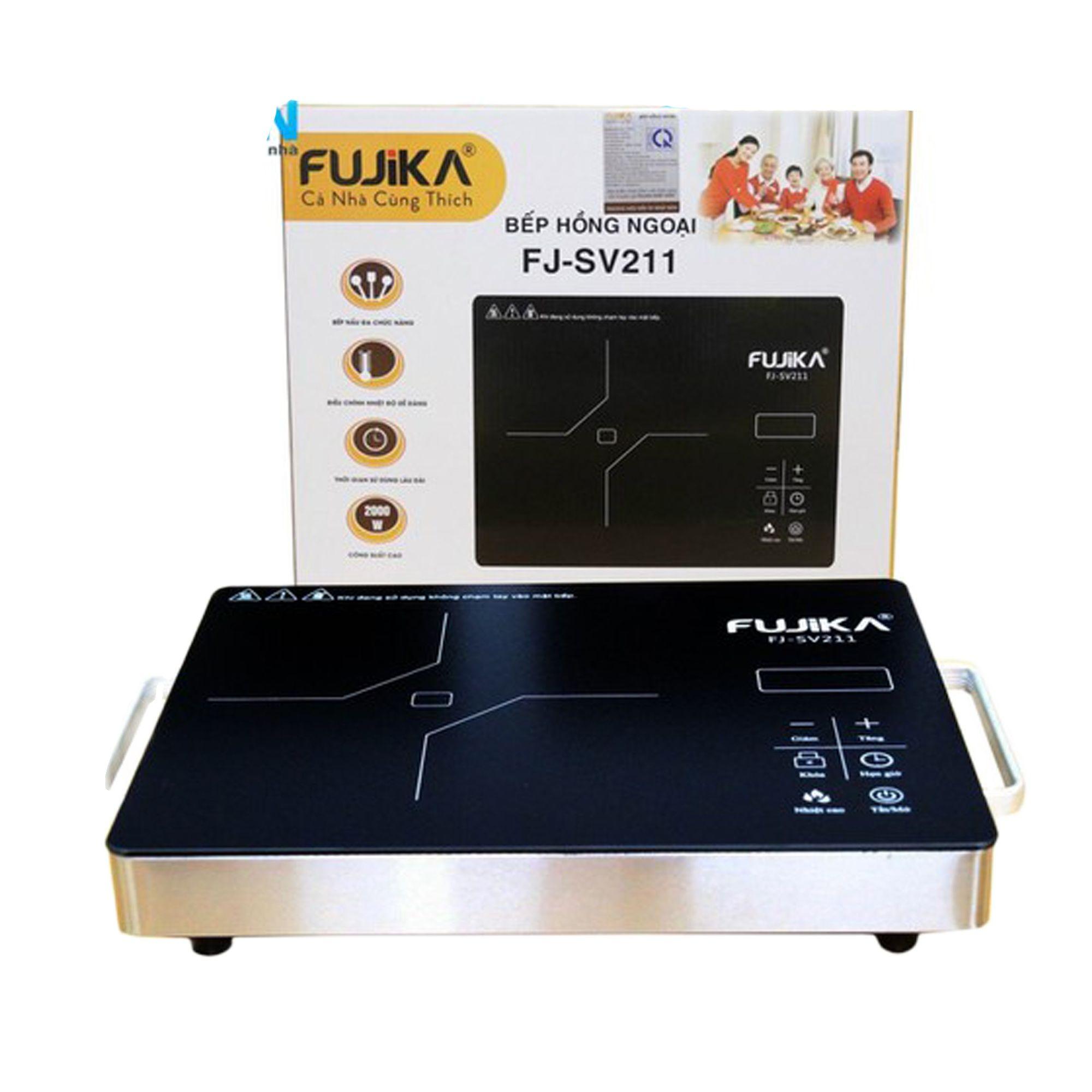 [ HÀNG CHÍNH HÃNG ] Bếp Hồng Ngoại 2000W Fujika FJ-SV211/NK-Media-SV222 Cao Cấp, Mặt Kính Cường Lực Nấu Mọi Loại Nồi, BẢO HÀNH 12 THÁNG