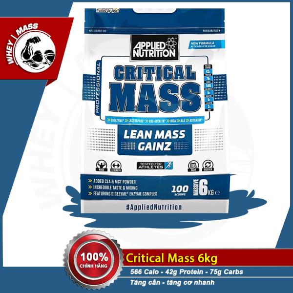 [ Quà Tặng ] Sữa Bột Tăng Cân Tăng Cơ Applied Nutrition Critical Mass 6kg
