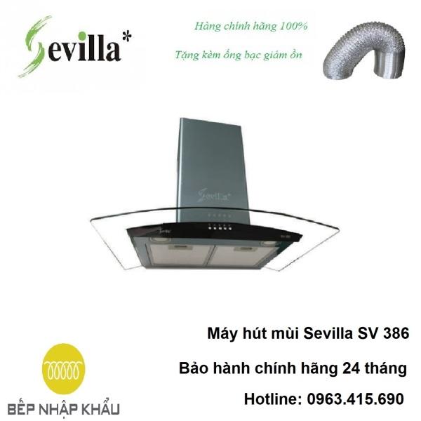 Bảng giá Máy hút mùi Sevilla SV 386, được thiết kế tinh tế, hiện đại, làm từ chất liệu hợp kim cao cấp, chống va đập, khử mùi tuyệt đối Điện máy Pico