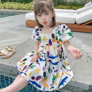 Zhihuida Váy Bé Gái 1-7 Tuổi Váy Cotton In Hình Trái Cây Động Vật Hoạt Hình Cho Trẻ Em Váy Hở Lưng Nữ Mùa Hè, Váy Trẻ Em Váy Trẻ Em Cô Gái