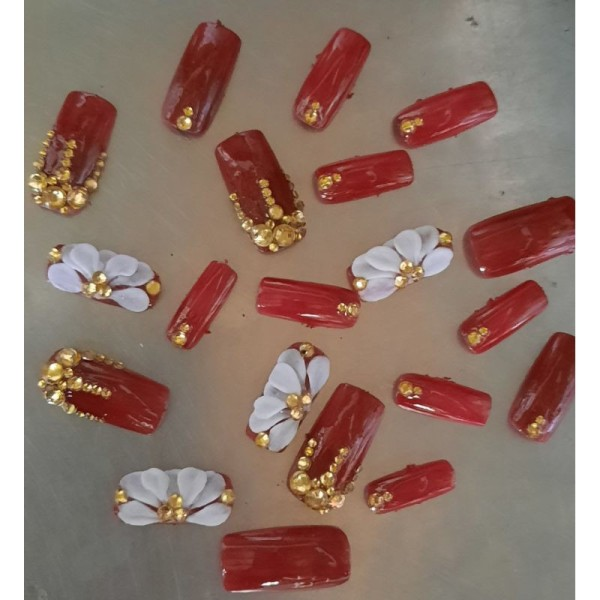 Bộ móng tay giả Cao cấp đắp bột thủ công AA101 nhiều màu cao cấp