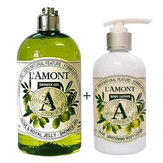 Sữa tắm 500ml và Dưỡng thể 250ml LAmont En Provence Hương Olive thumbnail