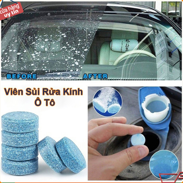 Viên Sủi Rửa Kính Ô Tô - 1 viên - Giúp tẩy sạch kính lái