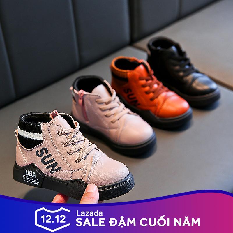 Giá bán Giày trẻ em boot cao cổ cá tính cho cả bé trai và bé gái