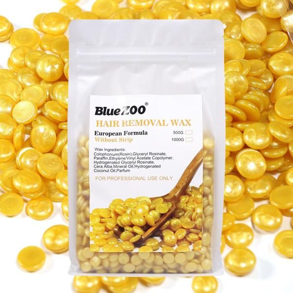Sáp Wax Lông Nóng Hat Đậu Ngọc Trai Blue Zoo Hard Wax Beans Gói 500Gr