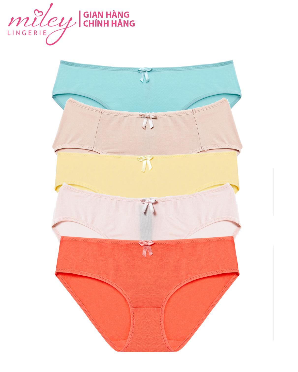 Bộ 5 Quần Lót Nữ Basic Comfort Modal MILEY -  Màu Ngẫu Nhiên Giảm Cực Hot