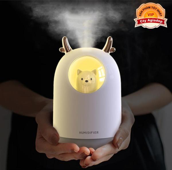 Máy tạo ẩm cao cấp hiệu con Gấu - Máy phun sương và lan tỏa mùi hương tinh dầu