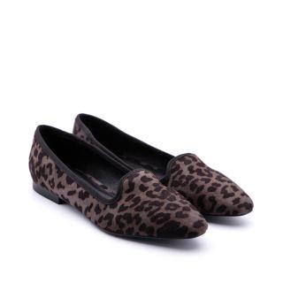 Giày nữ bale hoa văn da báo  MOS-14