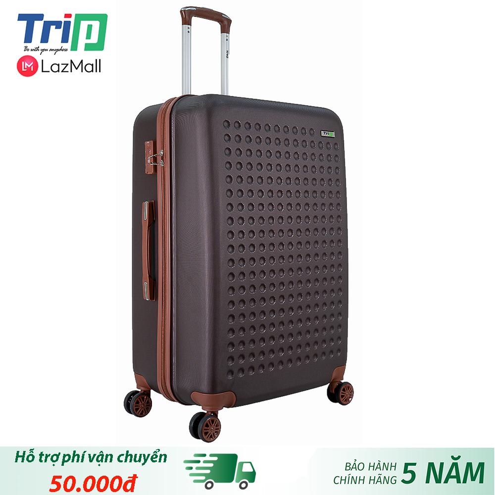 Offer tại Lazada cho [Hỗ Trợ Phí Ship] Vali TRIP P803A Size 28inch (Màu Cafe) - Vali TRIP Nhựa Cao Cấp Siêu Bền, Size Lớn đựng 30kg Hành Lý